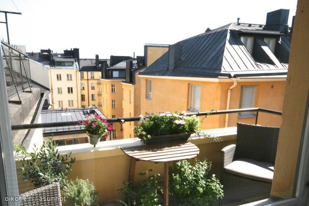 Myytävät asunnot, Ruoholahdenkatu 10, Helsinki #oikotieasunnot #Helsinki #parveke #terrace