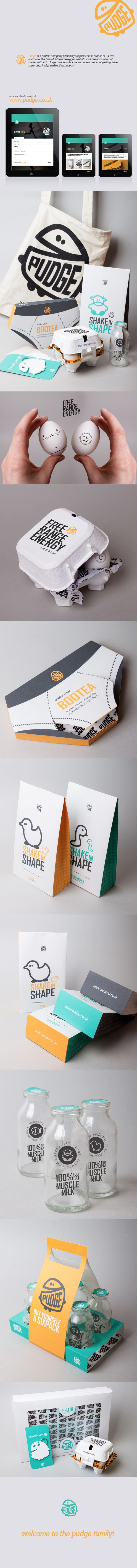 Pudge Protein by Marianne Johnsen, via Behance #identity #packaging #branding #marketing PD