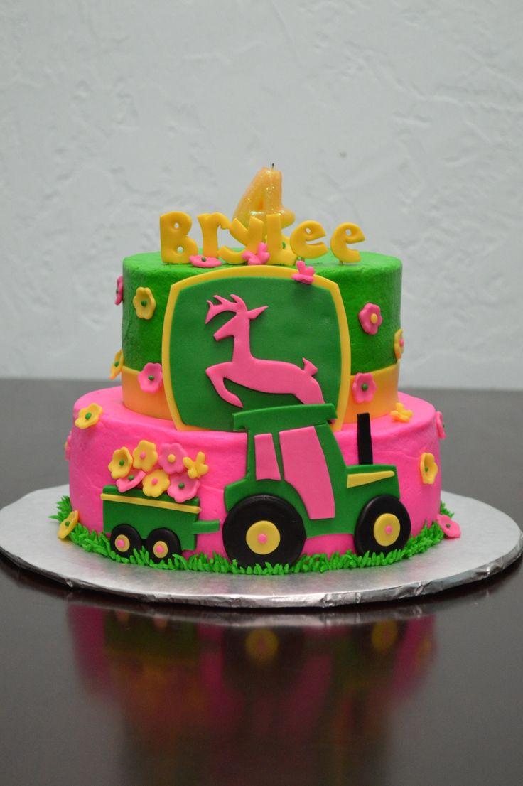 Girl John Deere Cake My Cakes Pinterest John Deere