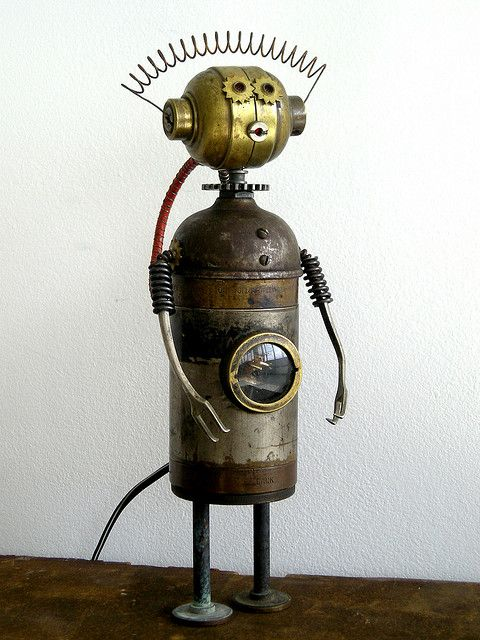"""Zelda"" Assemblage Robot Sculpture 