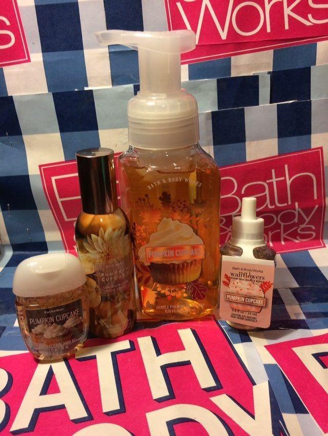 Pumpkin Cupcake Home Fragrance Set Hand Soap Room Spray
