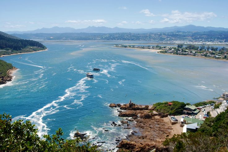 The Knysna lagoon viewed from a view site at the Heads, Knysna, South Africa.