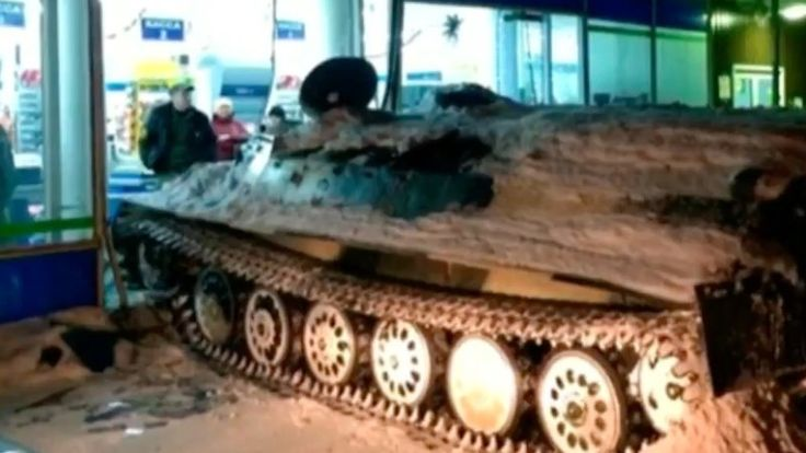 ICYMI: Russian man rams armored personnel carrier into shop, steals wine