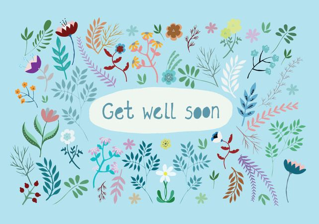 'Get Well Soon' A6 Card £2.00