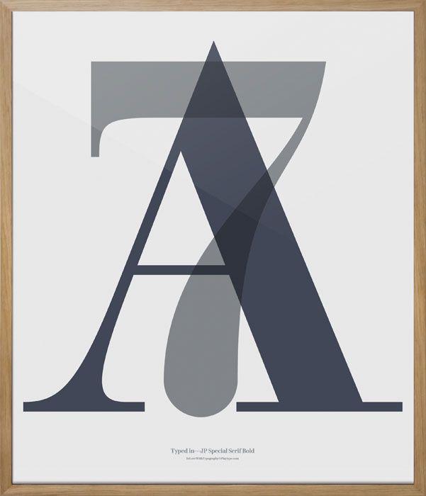 Scandinavian Design, Playtype Poster A7 - graphics