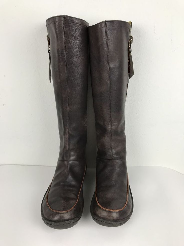Camper Boots Knee High Size 38 Brown Leather Womens Accent Stitching US 7.5  | eBay