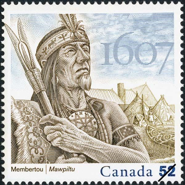 Henri Membertou (d. 1611). Chief of the Micmac Indians and ally of the French, he was the first Indian to be baptized in New France. He died at Port Royal in Acadie (present-day Annapolis Royal, Nova Scotia).
