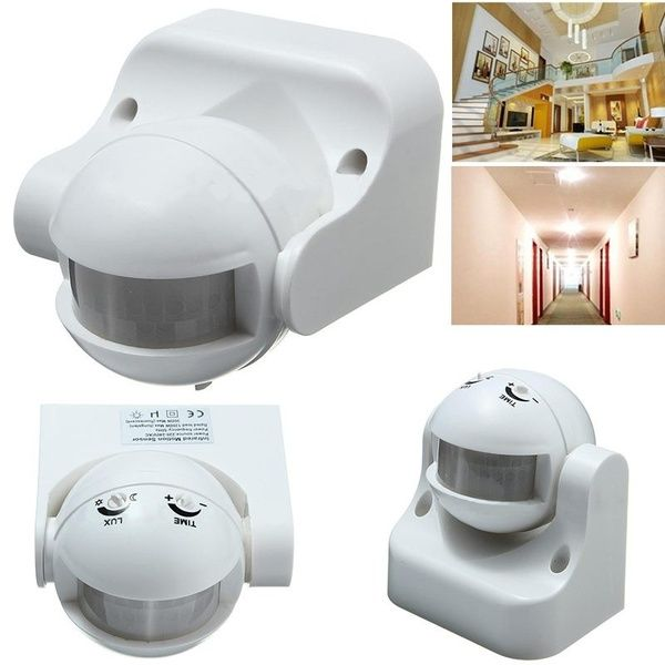 New 1pc 220v Outdoor 180 Infrared Pir Motion Sensor Detector Wall