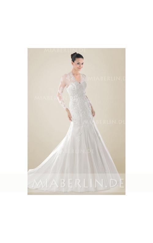 Ideen zu Brautkleid Lange Ärmel auf Pinterest  Langes weißes kleid ...