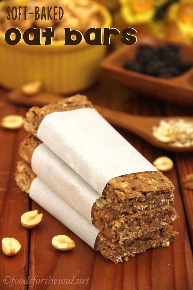 Soft-Baked Oat Bars -- a subtly sweet snack bar made with wheat flour, oats, and honey. They're 100% clean-eating too!