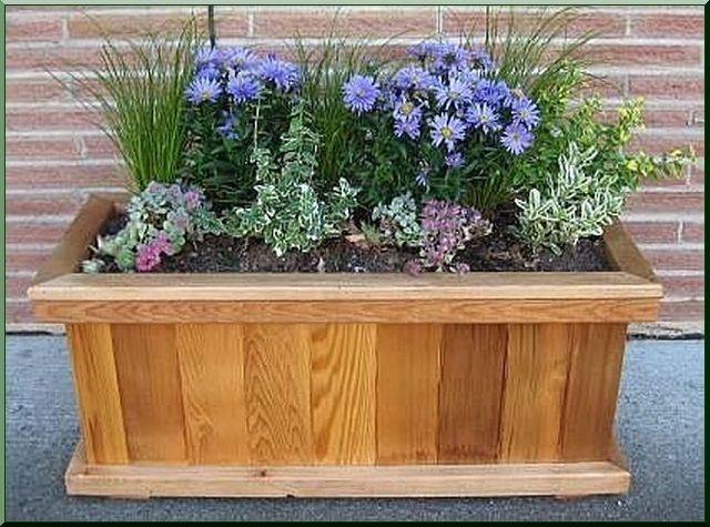 33 Best Wood Planter Tree Box Images On Pinterest Wood