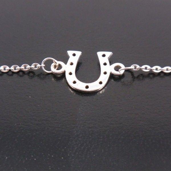 Sterling Silver Petite Horseshoe Bracelet - Sterling Silver - Jewellery