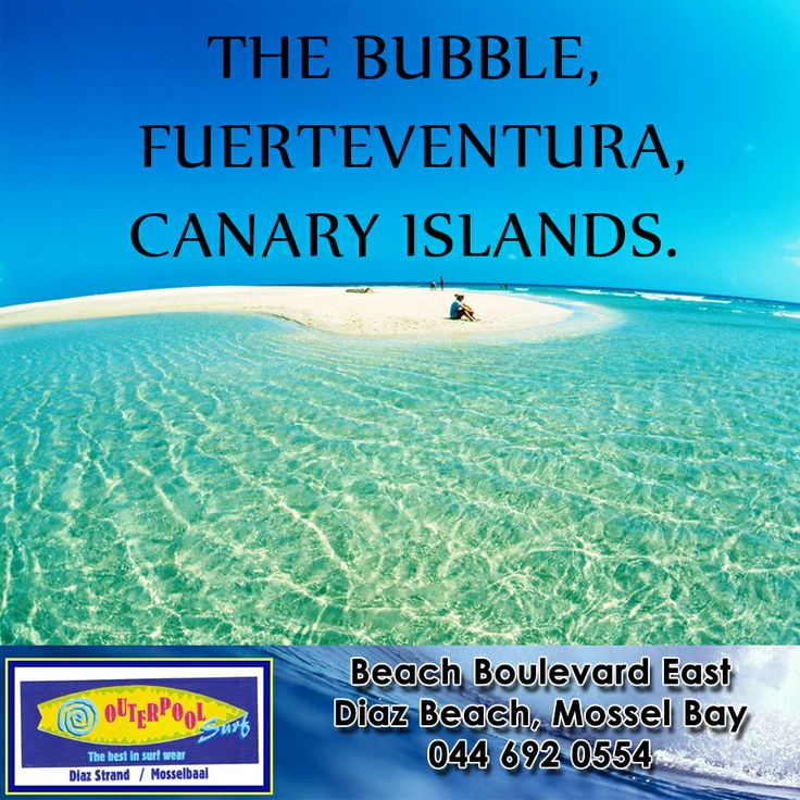 The Bubble, Fuerteventura, Canary Islands! Fuerteventura is the Mecca for surfers off the coast of Africa. With temperate climates between 18 to 24 °C. Tho, you will need to fend off some unfriendly and aggressive locals who will not voluntarily give you a turn on their waves, so go for a paddling race to get a shot at riding the expert right-hand tube The Bubble, which works best when it is a head high to double overhead though a little short for a left-hand ride. #surfing #spot…
