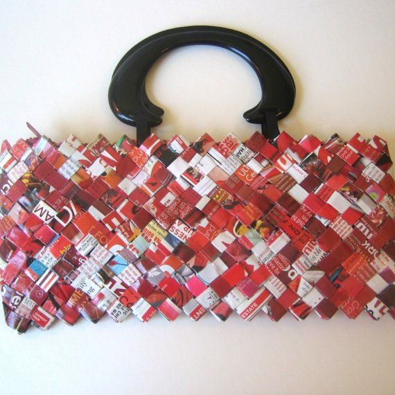 Barbara bag red recycled catalogs junk mail and for Free craft catalogs mail