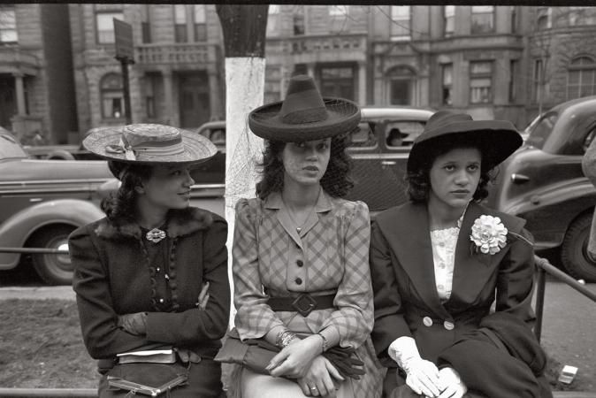 South Side Chicago girls at Episcopal Church, 1941. Photo by Russell Lee.