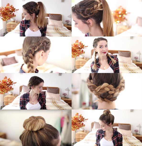 How To: 4 Quick & Easy Hairstyles | Zoella