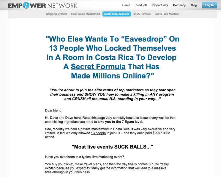 Hello Dear Friends just go through.You may be interested!!  Empower Network: Costa Rica Intensive
