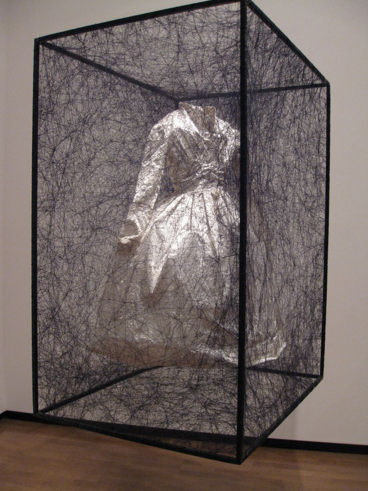 <p>Japanese-born, Berlin-based artist Chiharu Shiota's haunting installations are like beautiful, suffocating spider webs. Shiota creates massive works that commonly consist of found objects such as
