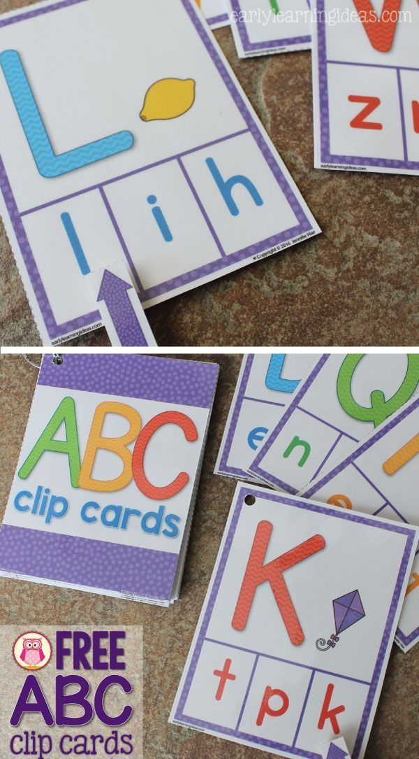 ABC clip cards are a multi-sensory and engaging way to practice letter recognition and letter sound for preschool, pre-k, kindergarten, and early childhood education. Great for independent learning centers, busy bags, and take home activities. Free ABC activity.