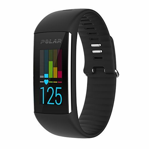 Polar A360 Fitness Tracker with Wrist Heart Rate Monitor (Black, Medium)
