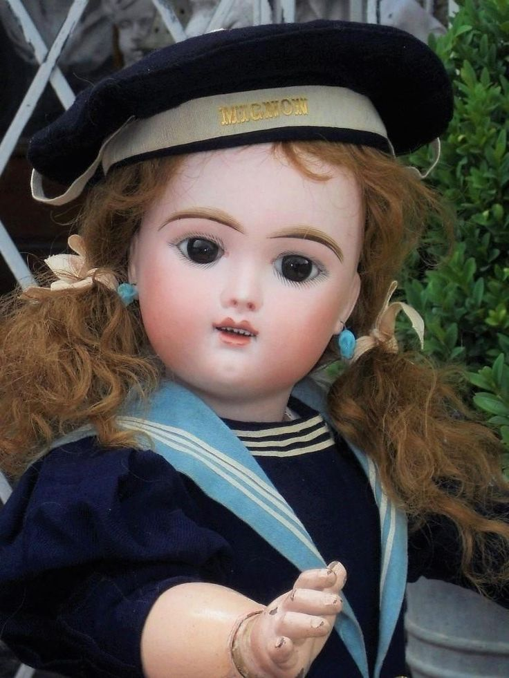 One of the most beautiful French bisque Bebe by Fleischmann  Bloedel ...... Eden Bebe model with very childlike and gentle expression   of best