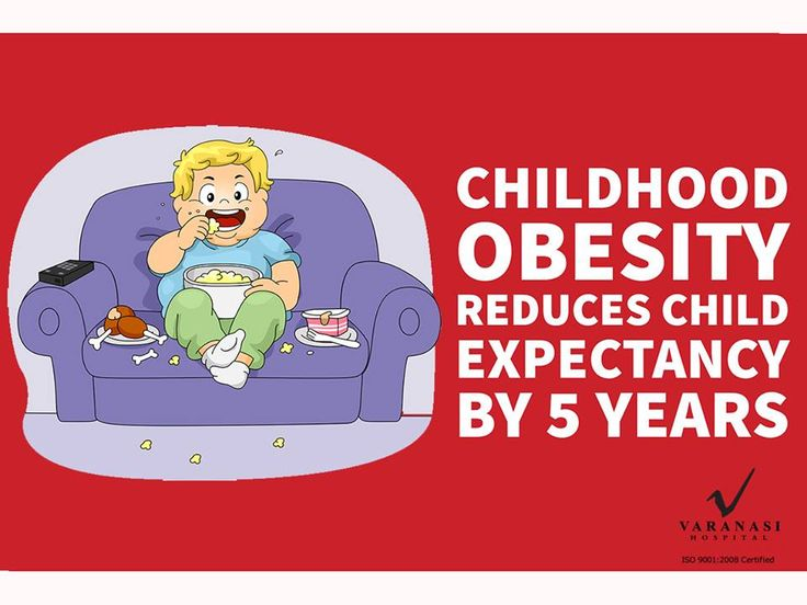 Childhood #obesity reduces the life expectancy by 5 years. Book an appointment with experts at Varanasi Hospital. #ChildhoodObesity