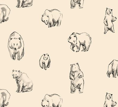 Bears Art Print by Leah Reena Goren