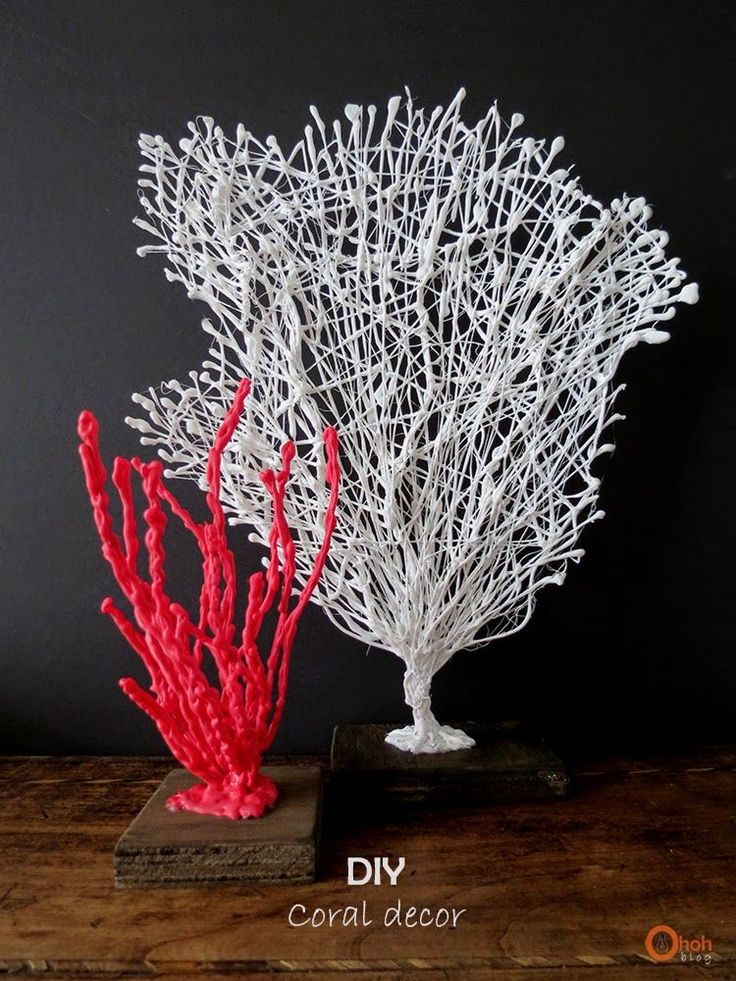 Hot glue coral decor