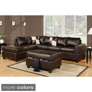 Ikea Sofa Bed Berane Reversible All Around Bonded Leather Sectional Couch Overstock Shopping The Best