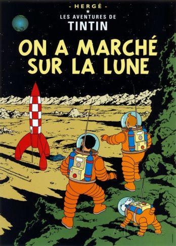 Månen tur och retur (del 2), 1954, On a marché sur la Lune, c.1954 - Affischer av Hergé (Georges Rémi) på AllPosters.se