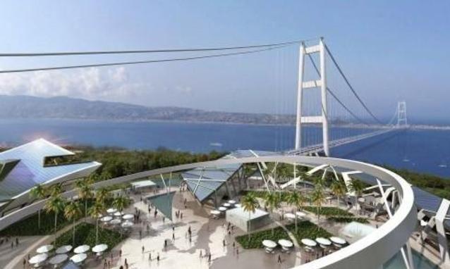 Bridge across Messina straits
