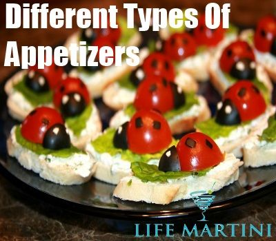 List Of Different Types Of Appetizers Drinks And