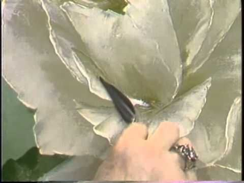 Friends of Bob Ross: Marilyn White, White Rose (from DVD #MW04D)
