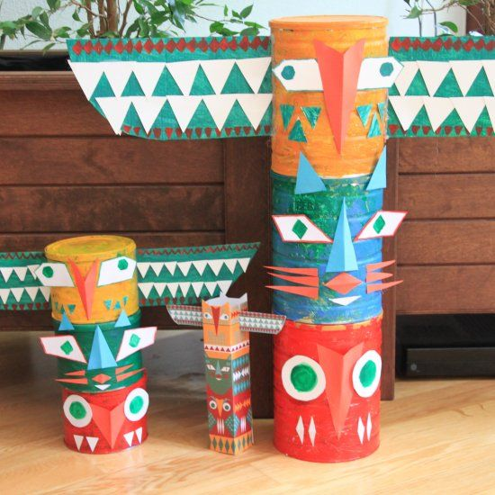 Great fun craft idea for all ages, and an awesome pow wow party decoration.