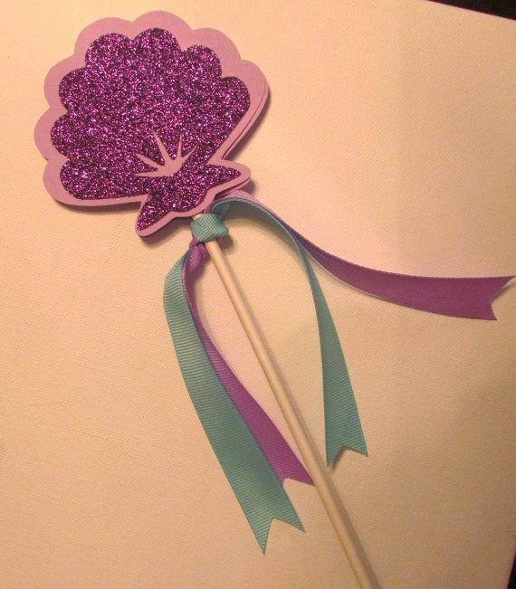 Under the sea birthday.  8 Princess Wands Ariel Disney Princess by KhloesKustomKreation, $24.00