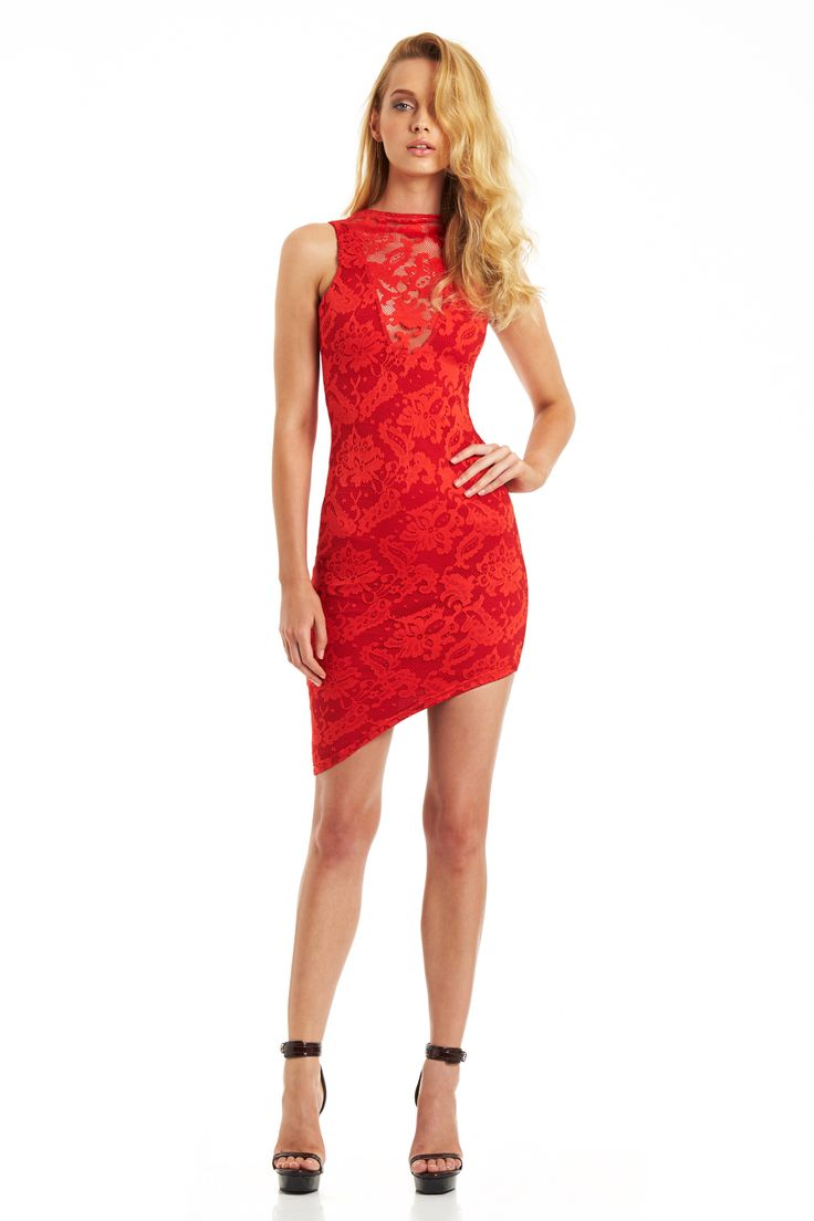 RENEGADE LACE DRESS (Red) #nookie #nt14