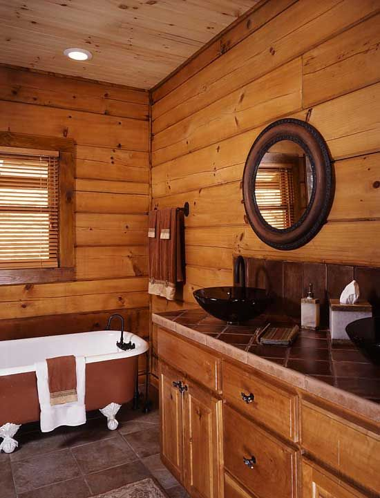 1000 ideas about log home bathrooms on pinterest log for Log cabin bathroom design ideas