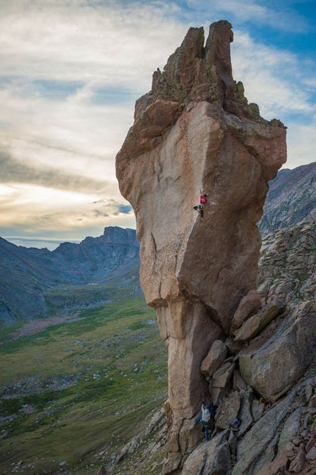 Ben Spannuth on Doubloons 5.14, the Abyss, Mt. Evans, Colorado