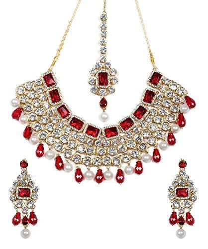 Beautiful Ethnic Indian Bollywood Designer Red White Pear... https://www.amazon.com/dp/B01KBV053O/ref=cm_sw_r_pi_dp_x_68TFzbCHCPJDD