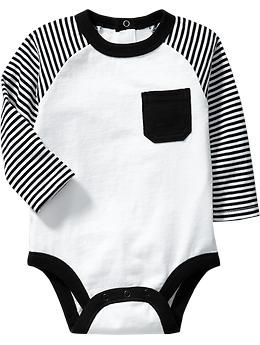 Color Block Jersey Bodysuits for Baby   Old Navy