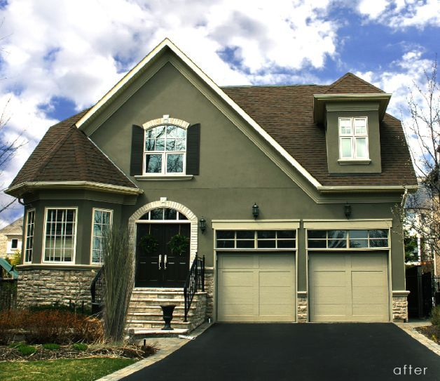 exterior color schemes for homes olive google search - Stucco Exterior Paint Color Schemes