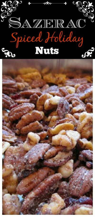Sazerac Spiced Holiday Nuts Recipe  | whatscookingamerica.net  #sazerac #spiced #nuts #mixed #snack #appetizer #christmas