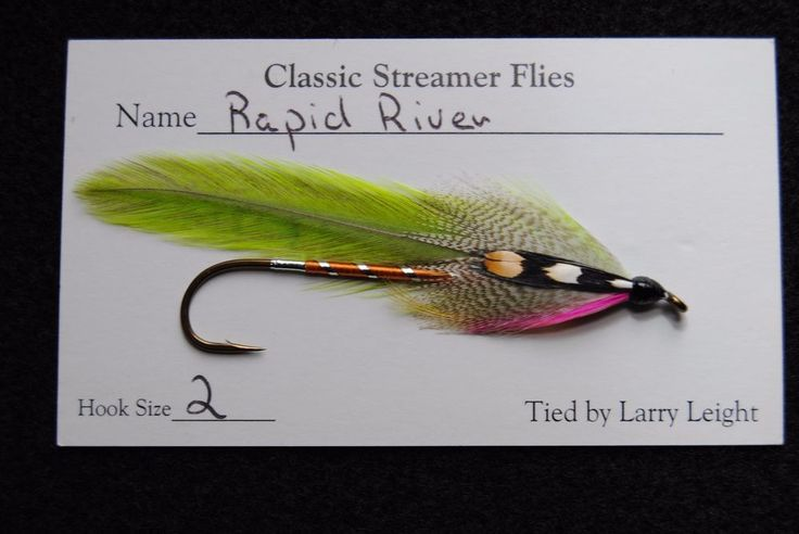 Tied by Larry Leight. CARRIE STEVENS STREAMER FLY. 'Rapid River'. | eBay!