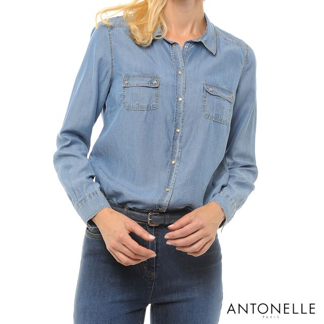 Envie d'une tenue décontractée mais pas d'idée ? Essayez la chemise en Jean !   #FASHION #MODE #JEAN #Antonelleparis #clothing #lookoftheday  #lookbook #womenswear #antonelle #paris