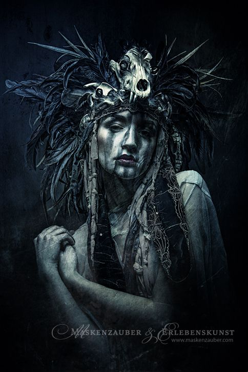 Dark Art / Photography / Nightmare / Skull Headpiece / Surreal / Death / Horror / Creepy // ♥ More at: https://www.pinterest.com/lDarkWonderland/