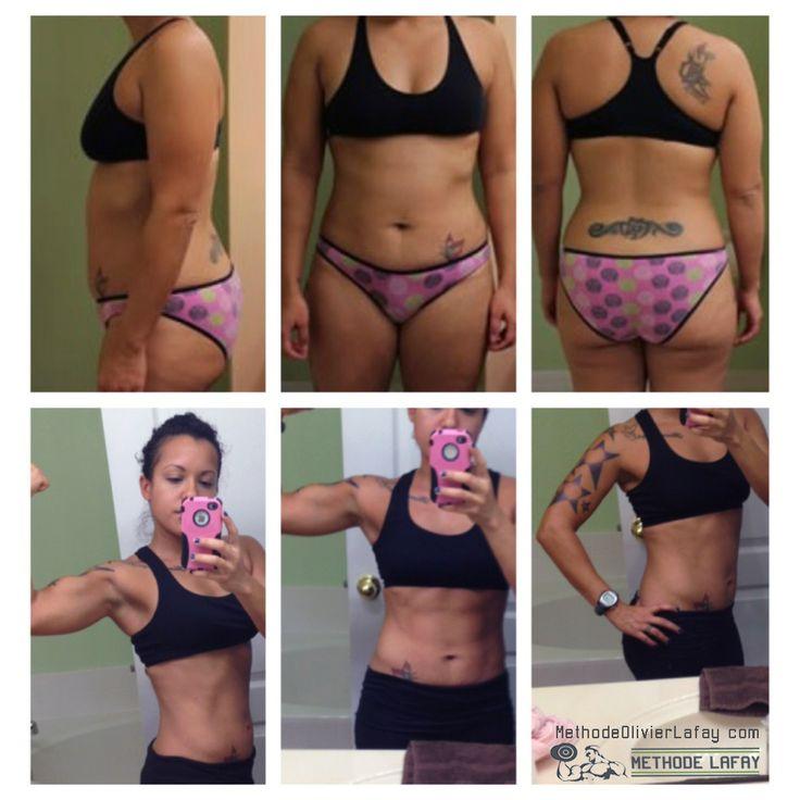 Avant après femme #musculation #motivation #methodelafay  www.methodeolivierlafay.com