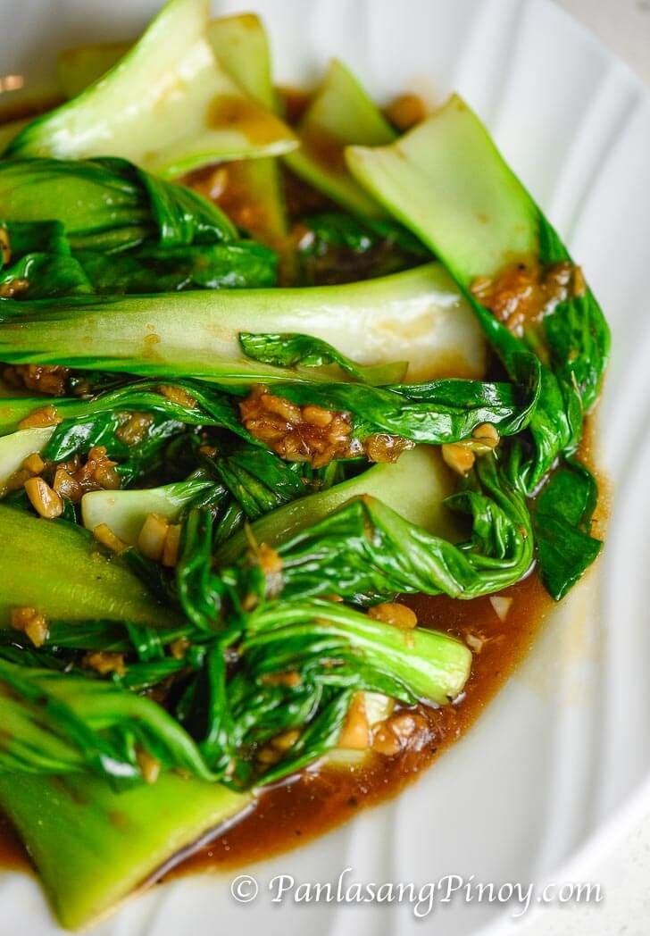 Bok Choy With Garlic And Oyster Sauce Pinoy DessertPinoy Food Filipino DishesFilipino AppetizersFilipino Vegetable RecipesEasy RecipesAsian