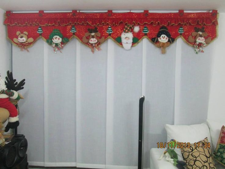 Decoracion Salas Navide?as ~ cenefa navide?a  cortinas  Pinterest