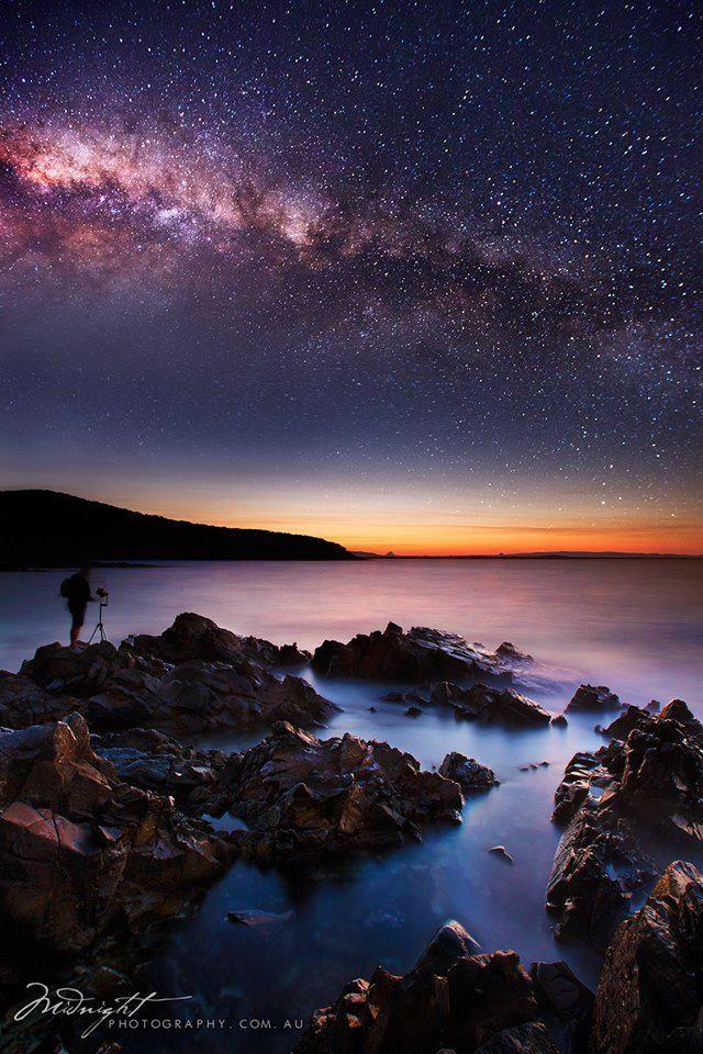 Milky Way Rising Over Noosa National Park, Australia. #WesternUnion