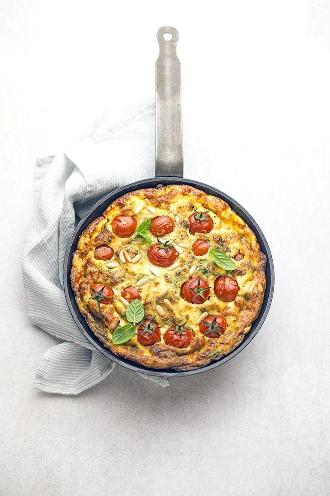 """pane&burro: Le frittate """"estive"""": pomodorini, feta, menta e pi..."""